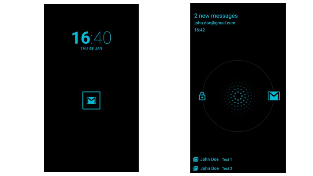 Moto x Active display screenshots