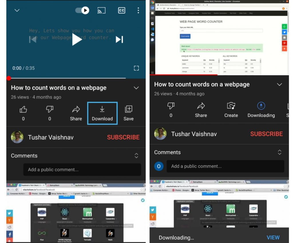 How to download youtube video on Android